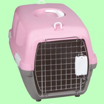 haustierprofi transportbox f r katzen und hunde pink od. Black Bedroom Furniture Sets. Home Design Ideas